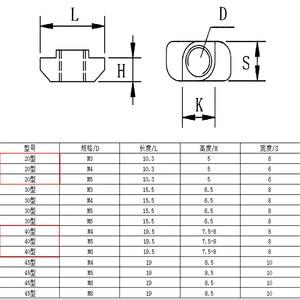 10 шт./лот M3 M4 M5 M6 M8 резьба T гайка стандарт ЕС падение в t-образном слоте углеродистая сталь для 2020 3030 4040 4545 серии алюминиевые профили