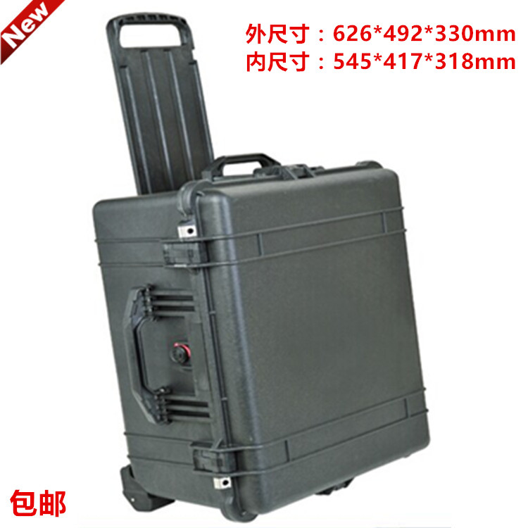 Waterproof trolley case toolbox tool case Dustproof Protective Camera Case Instrument box equipment box with pre-cut foam lining tool case gun suitcase box long toolkit equipment box shockproof equipment protection carrying case waterproof with pre cut foam