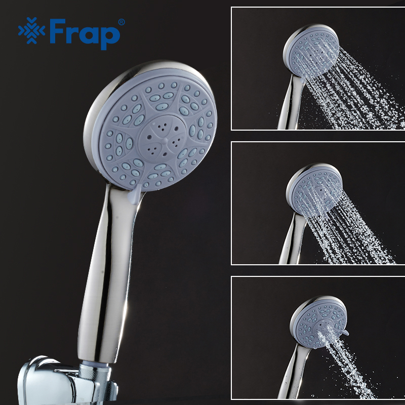 Frap Third Gear Adjustment Round Hand Shower Nickle Brushed Rain Spray Shower Faucets Bathroom Accessories F16-5