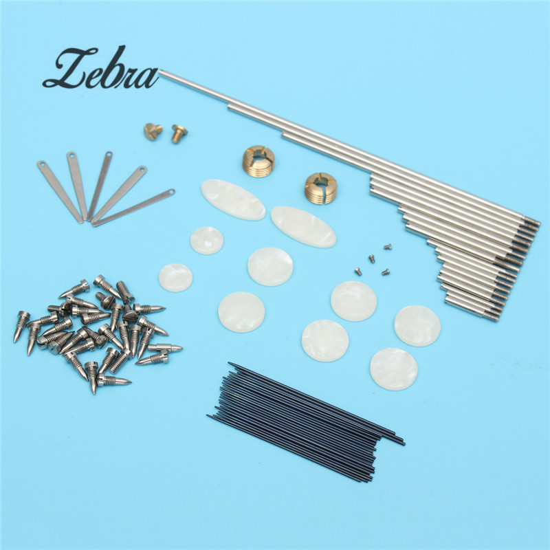 1Set Tenor Sax Repair Parts Rollers + Screws + Spring +Key Buttons Inlays For Saxophone Parts Accessories