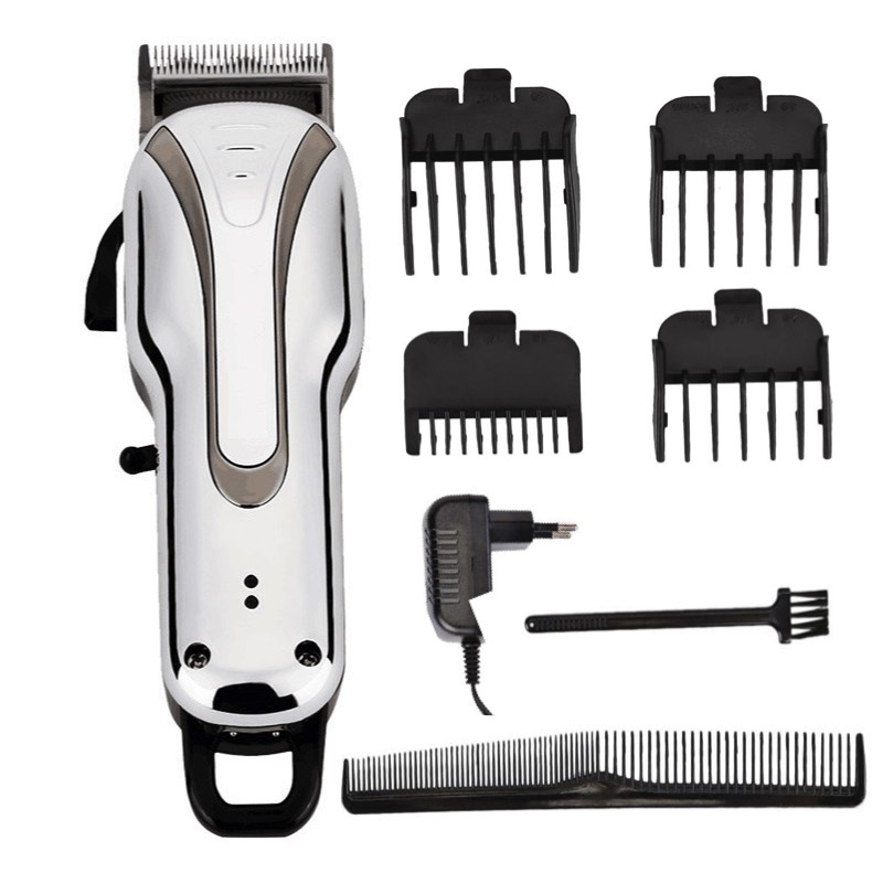 100V-240V Rechargeable Pro Hair Clipper, cord/cordless High performance barber clippers Electric Haircut Trimmer electric hair trimmer titanium ceramic professional barber clippers hair cutting machines 100v 240v