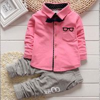 Spring Autumn Boys Boutique Clothing 0 3Years Toddler Baby Clothes Suits Long Sleeve Shirt Soft Pants