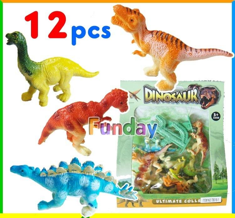 12pcs//set dinosaure plastique Jurassique jouer modèle Action jouets garçons