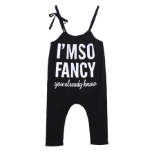 Toddler Kids Cotton Overalls European Style Boys Girls Pants font b Baby b font Letter Print