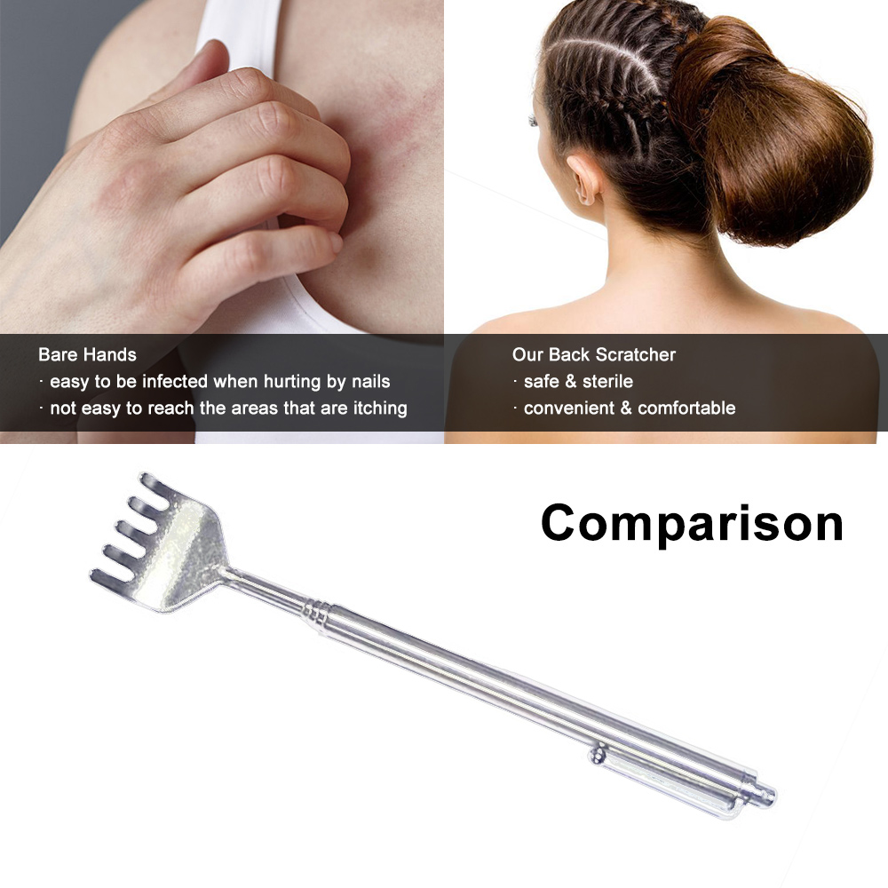 Back Scratcher Stainless Steel Massager Extendable Pen Shape Body Massager Professional Telescopic(China)