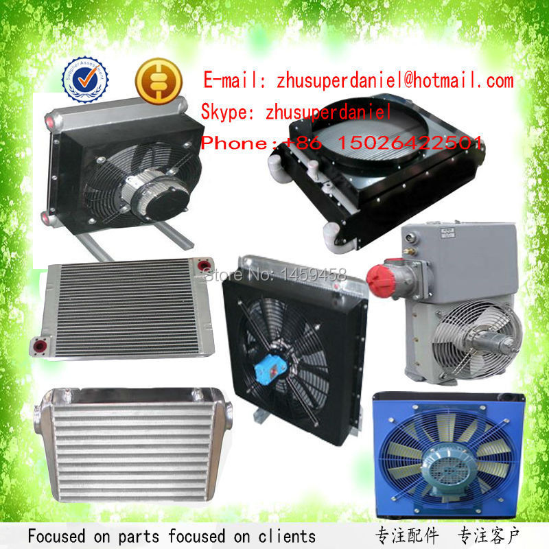 Wjier Sullair Air Compressor Oil Cooler Heat Exchanger Air Cooler