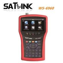 [Genuine]digital satellite finder satlink ws-6960 signal search meter 6960 4.3 Inch HD TFT LCD Screen Fully DVB-S/S2  finder