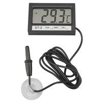LCD Display Digital Temperature Sensor Thermometer For Water Aquarium Fish Tank Freezer Refrigerator With Clock Function