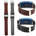 Wholesale High quality Genuine Leather Replacement Strap for Samsung Gear fit 2 Band Wristband with Stainless steel adapter