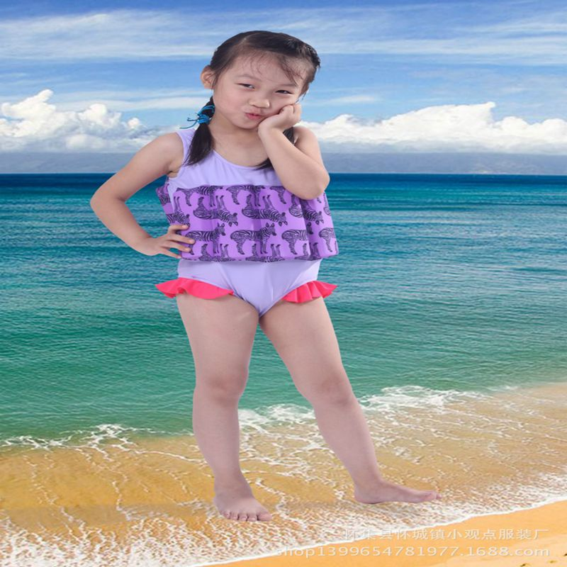 5pcs/lot Swimwear 2016 summer girls buoyancy swimsuit one piece protective thicken buoyant swim ...