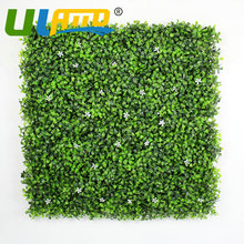 ULAND 25x25cm/pc Artificial Boxwood Hedges Panels Synthetic Balcony Fencing UV Privacy Ivy Fence Wall Home Garden Decoration