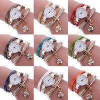 Women Watches Fashion Casual Bracelet Watch Women Relogio Leather Rhinestone Analog Quartz Watch Clock Female Montre Femme 3