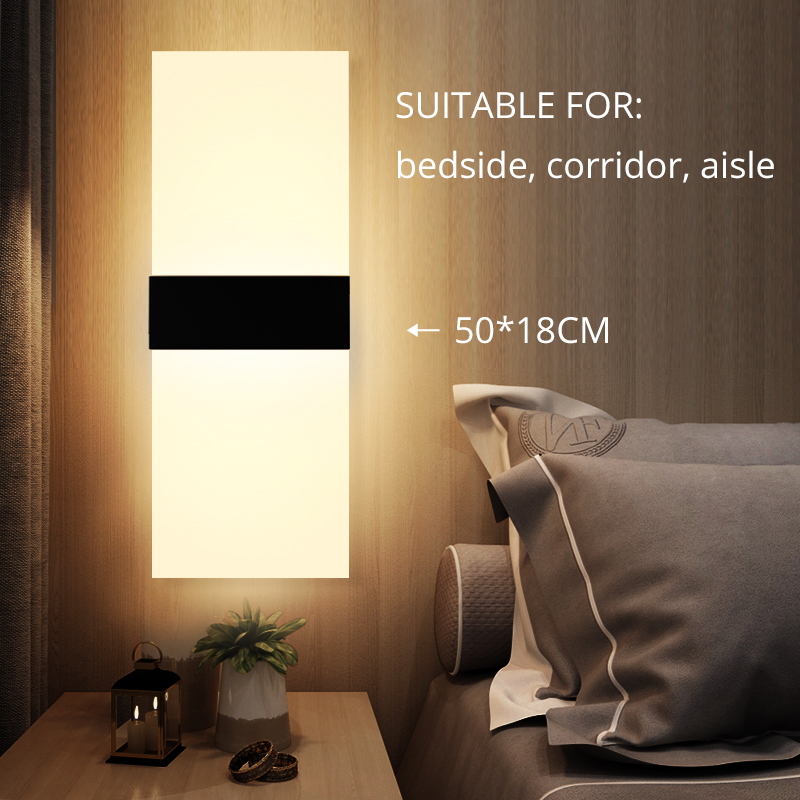 HTB1jYsGXUD1gK0jSZFGq6zd3FXaV - Mini 3/6/12/18W Led Acrylic Wall Lamp AC85-265V 14CM/22CM Long warm white Bedding Room Living Room Indoor wall lamp