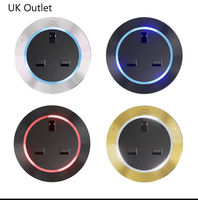 1x Electrical Socket Outlet Internet USB Port Moverable Adapter for Power Track UK Universal Outlet