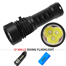 100M professional diving equipment xm l2 scuba flashlights 26650 waterproof led torch lampe torche underwater photo fill light 5000lm xm l2 led scuba diving flashlight ajustable light torch underwater 100m waterproof diving lamb light 26650 battery charge
