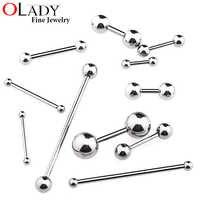 6 ~ 38mm DIY Titan Micro Barbell bars für Zunge Ringe Knorpel Ohrring Nippel ringe 14 16g Körper piercing Schmuck