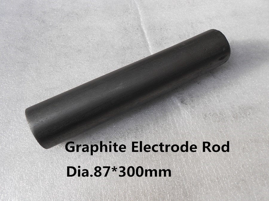 Dia.87*300mm  graphite rods electrode ,       Medium grained graphite rods  for low and medium capacity arc and ladle furnaces 5pcs 100mm length graphite rod 10mm diameter electrode cylinder rods bars black for industry tools