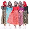 2016 Mulheres Muçulmanas Abaya Caftan Turco Adulto Fotos Vestido 2017 New Hot Vestido de Manga Comprida Vestido Saudita Muçulmano Robe Feminino