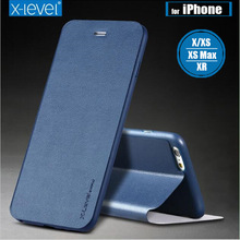 X-Level мягкий PU кожаный флип чехол для iPhone X XS MAX XR стенд держатель защитный чехол для iPhone 8 7 6s 6 Plus 5S SE Capa