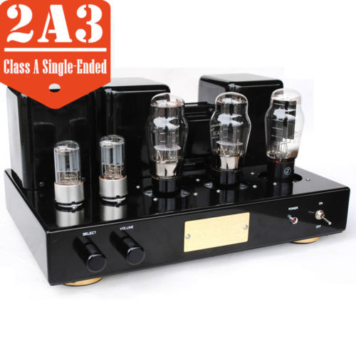 2A3 Vacuum Tube Integrated Amplifier Class A Single-Ended Power Amp Black & Red j 012 muzishare x3t 5ar4 2 dual rectifier circuit integrated vacuum tube amplifier el84 2 pure class a single ended power amp