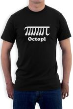 Octopi T-Shirt Cthulhu geek math pi occupy Men T Shirt Print Cotton Short Sleeve T-shirt 100% Cotton Short Sleeve
