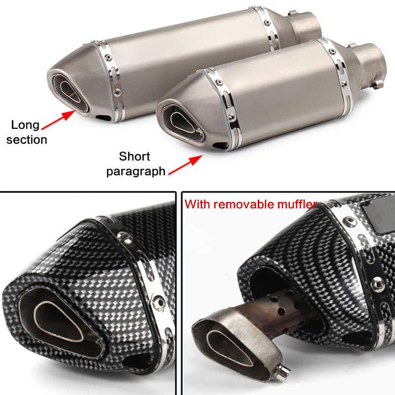 51 ミリメートル 36 ミリメートルユニバーサルオートバイ排気 akrapovic 変更モトクロス排気マフラーため FZ6 CBR250 ヤマハ CB600 MT07 atv ダートピット