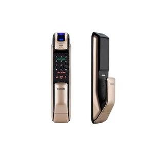Image 3 - SAMSUNG Fingerprint PUSH PULL Digital Door Lock With WIFI Bluetooth App SHS DP728 English Version Big Mortise AML320