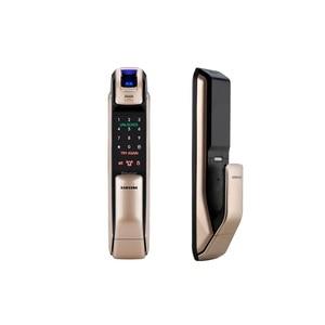 Image 3 - SAMSUNG czytnik linii papilarnych PUSH PULL cyfrowy zamek do drzwi z aplikacją WIFI Bluetooth SHS DP728 angielska wersja Big wpuszczany AML320