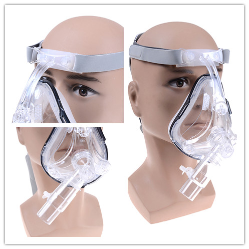 Full Face Mask For Snoring Facial Care Tool With Headgear Clip Apply To Medical CPAP BiPAP Silicone Gel Material Size S/M/L