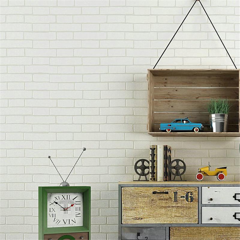 beibehang azul ladrillo papel pintado para paredes d mural papel de parede prr quarto wallpaper