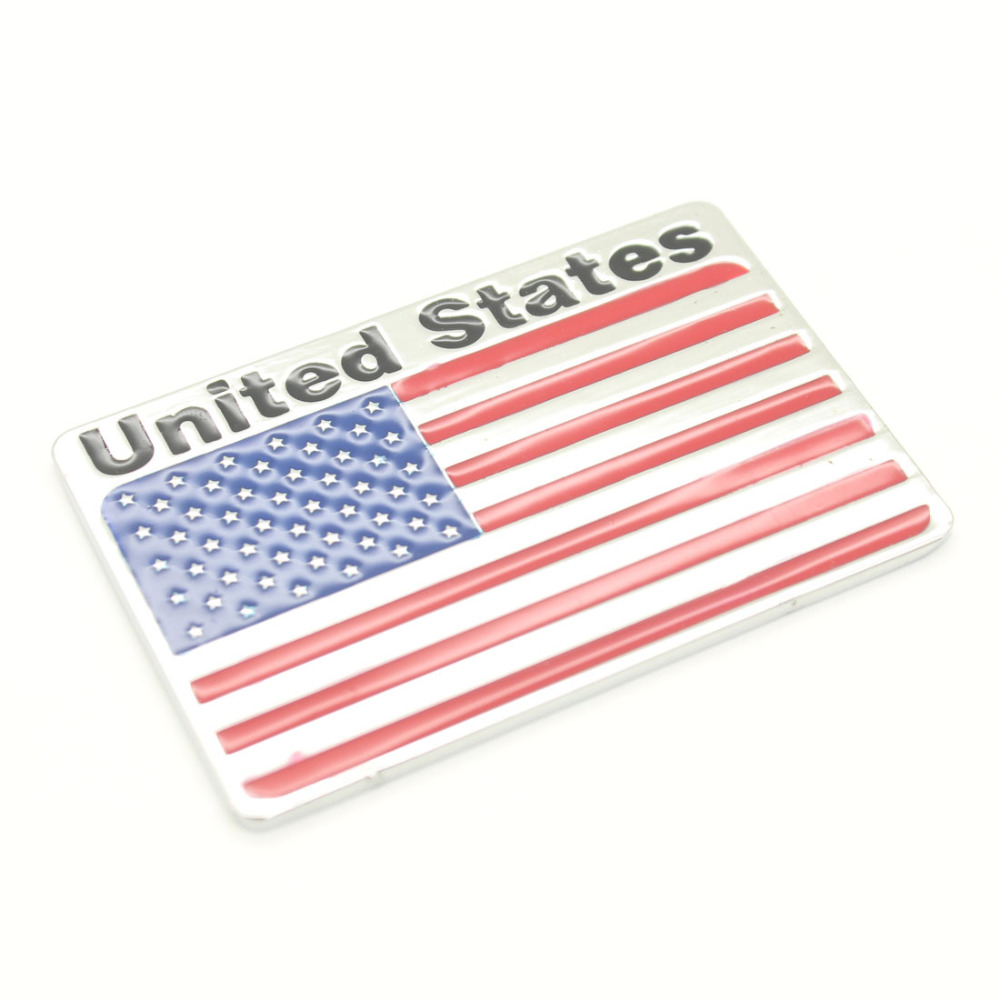 Dongzhen Auto Car Styling 3D Aluminum American Flag Car Sticker Fit For BMW VW Cadillac Buick <font><b>Chevrolet</b></font> Lincoln Chrysler Dodge image