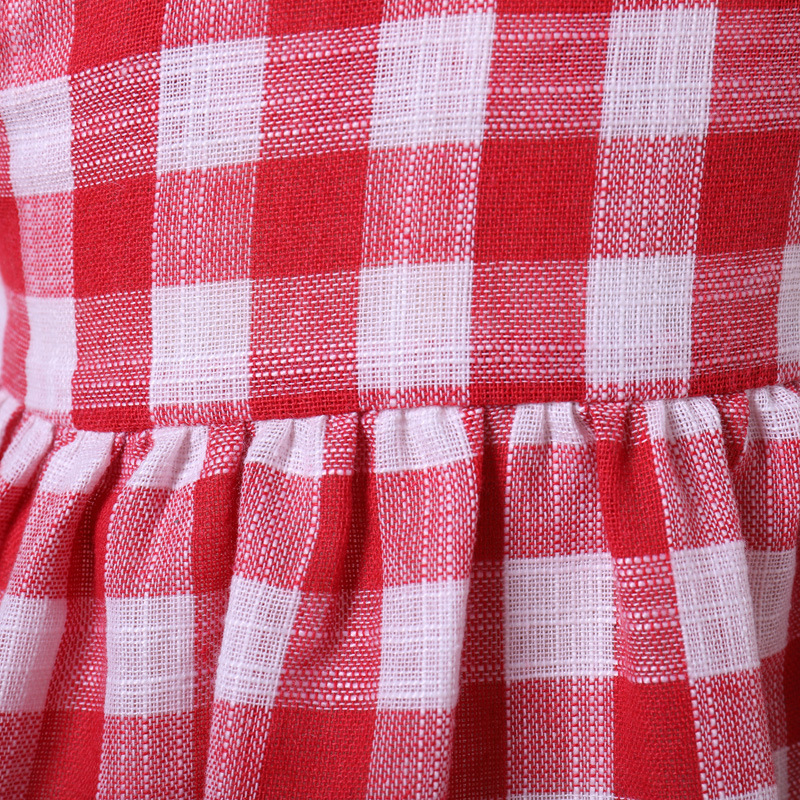 Yoyoxiu Infant Dress Plaid Baby Girl Dress Ruffled Tulle Backless Sleeveless Sundress Party Dress Casual Sweet Dress in Dresses from Mother Kids