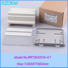 5 pcs/lot free shipping plastic electrical din rail box  enclosure for din rail  106*87*60mm plastic enclosure for electronic