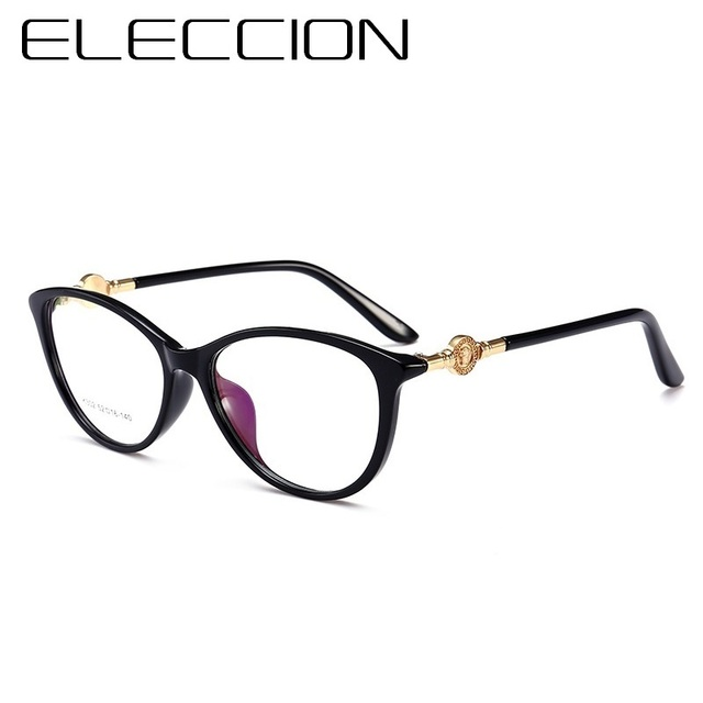 aadc94a4035a ELECCION 2018 New TR90 Rim Full Frame Spectacle Fashion Myopia Frame Glasses  For Women Cats Eye Style Clear Glasses Eyewear