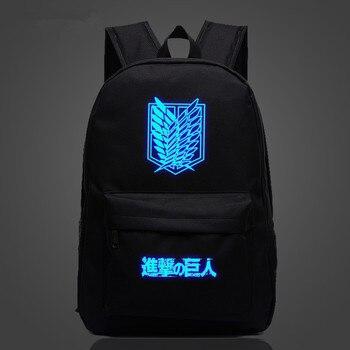c9955982089b1 Titan Anime okul çantası noctilucous Aydınlık sırt çantası okul çantası  Dizüstü sırt çantası Günlük sırt çantası Glow Koyu
