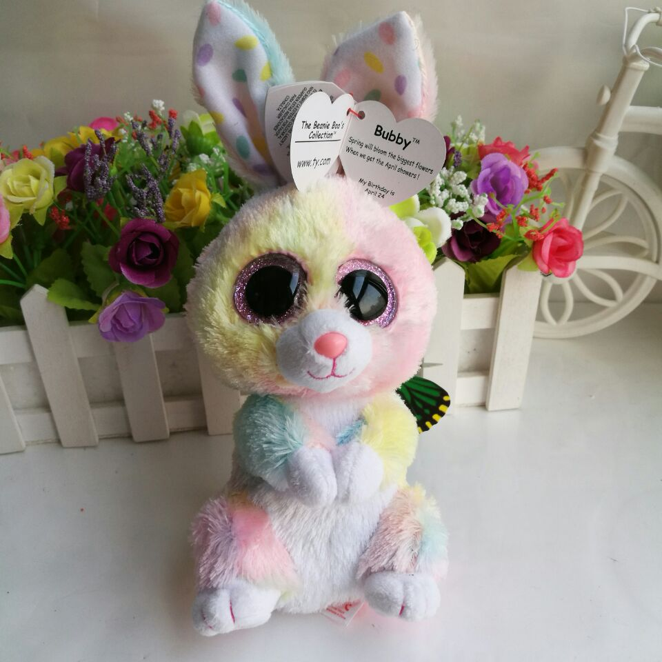 bubby rabbit colorful bunny TY BEANIE BOOS 1pc 25CM Plush Toys Stuffed  animals toy SOFT TOY home decoration -in Stuffed   Plush Animals from Toys    Hobbies ... 065d38107dbd
