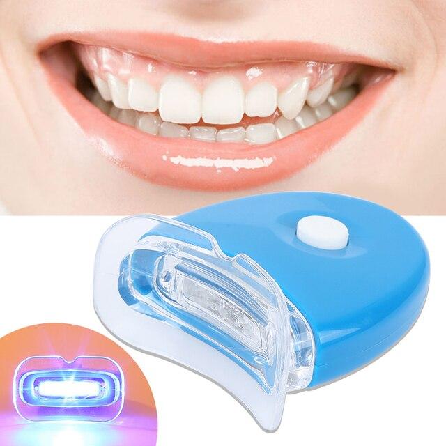 6 V blanco luz LED dientes Blanqueamiento Dental Gel blanqueador salud cuidado bucal para el tratamiento Dental Personal herramientas de blanqueamiento Dental TSLM1