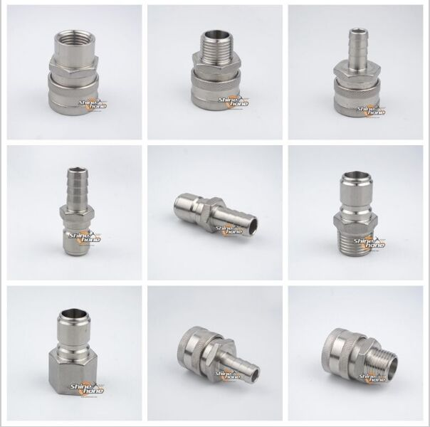304 Stainless Steel Homebrew Beer Quick Disconnect Set Homebrew Fitting Connector Home Brewing