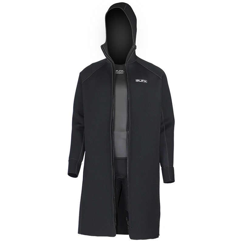 Nieuwe SLINX 3mm Mannen Vrouwen Neopreen Hooded Windbreaker Wetsuit Duikpak Warm Houden Badmode voor Snorkelen Vissen Zwemmen