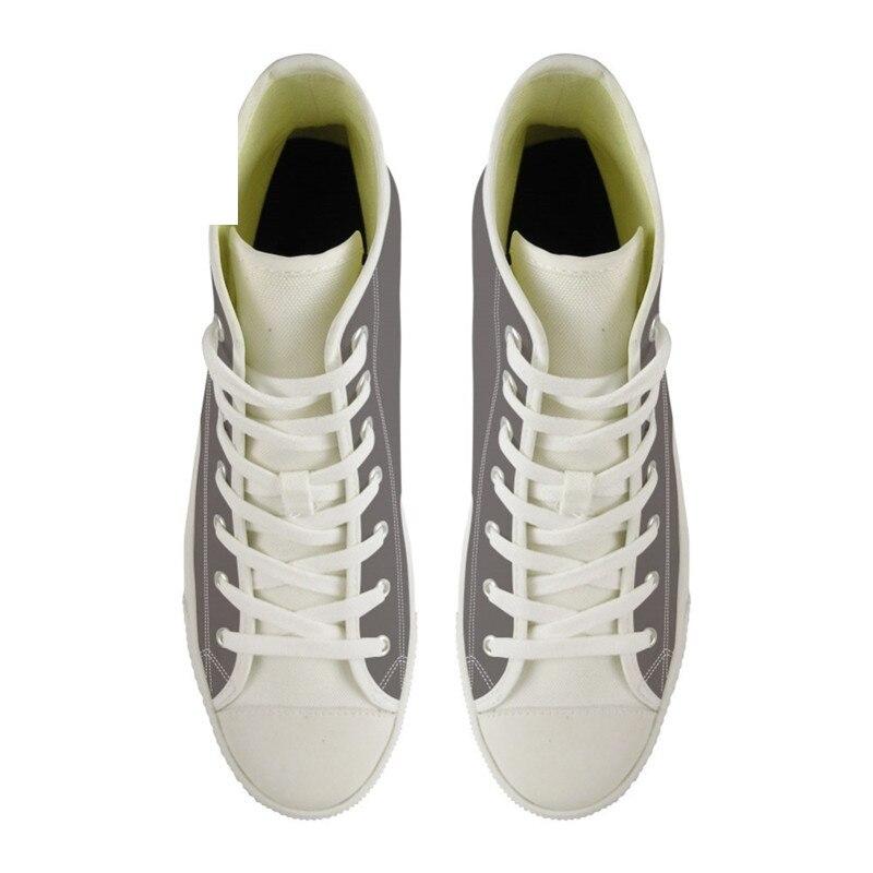 Doginthehole Image personnalisée Logo homme chaussures de course Sport appartements femmes baskets pour filles haut haut Gym chaussures confortable toile chaussure - 3