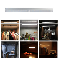 Dozzlor Motion Sensor Light Under Cabinet Lights USB Rechargeable Stick Wireless Activated Closet Lights