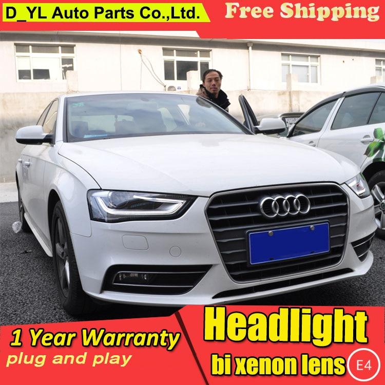D YL Car Styling for Audi A4L B9 Headlights 2013 2015 A4L B9 LED Headlight DRL