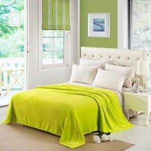 Image 2 - CAMMITEVER Solid Color Flannel Blanket Adult Warm Blanket Super Soft Coral Fleece Blanket Adult Double Bed Sofa