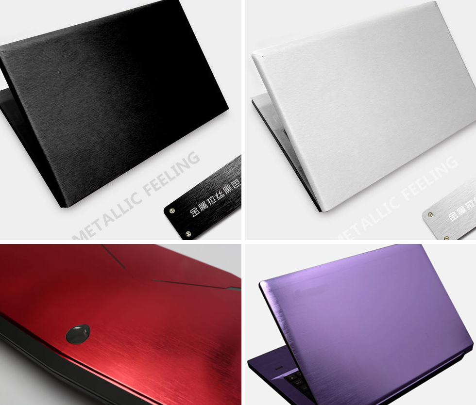 KH Special Laptop Brushed Glitter Sticker Skin Cover Guard Protector for DELL Studio 1737 17.3