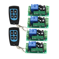 RF Wireless Remote Control Switch System 4 Receiver & 2Transmitter Classic 315/433mhz Smart Home