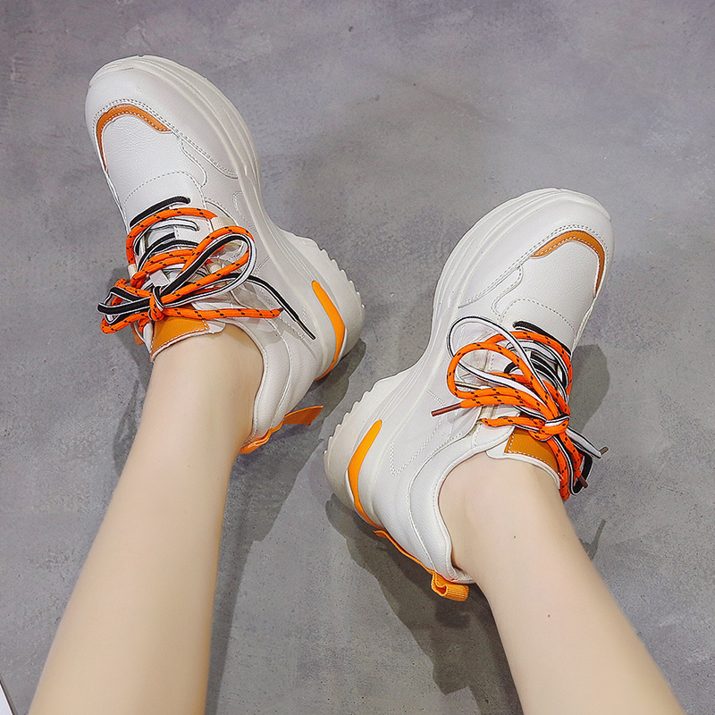 Rubber Wedges Shoes for Women Casual Shoes Comfortable Platform Sneakers Women Vulcanized Shoes Spring and Autumn Women Shoes 40
