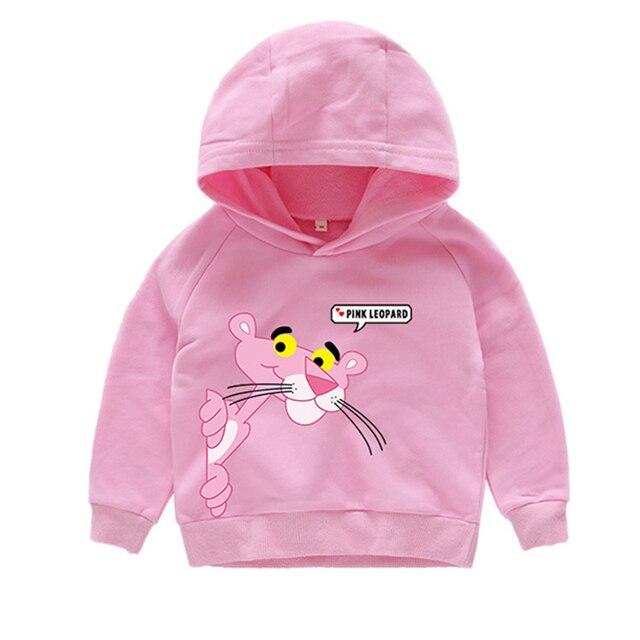 516ba57dbb7 3 camisetas de moda estilo Pantera Rosa sudaderas con capucha de manga  larga para niños y