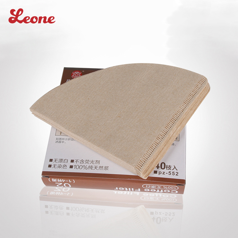 40pcs/Bag V60 Sector <font><b>conical</b></font> Non-bleached wood pulp Coffee Filter <font><b>Papers</b></font> Cones <font><b>Cups</b></font> Coffee Strainer Filter baskets Accessories