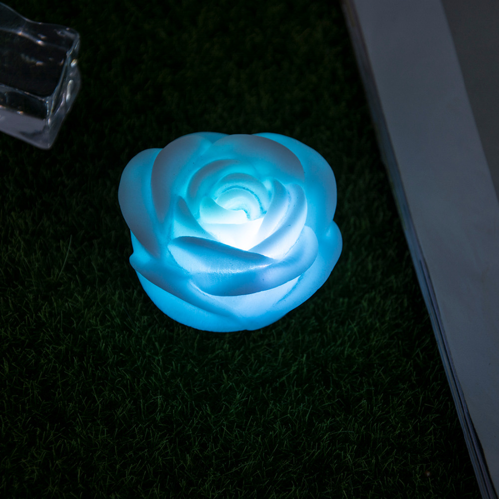 Fashion Romantic LED Night Lamp Rose Flower Night Light Color Lamp Changed LED Night Lights Interior Design