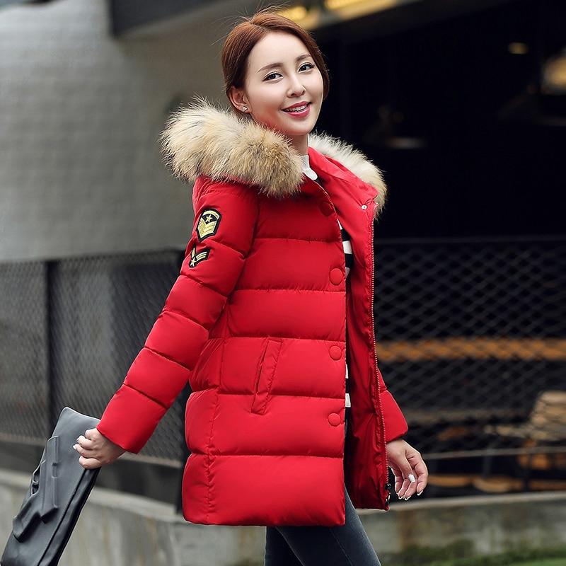 New Coats Jackets 2016 Hooded Winter Jacket Women Artificial Fur collar winter coat women Long Coat